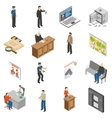 Justice And Law Isometric Icons Set vector image