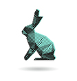 Rabbit abstract isolated vector image