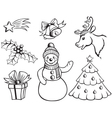 Set of Christmas pictures vector image vector image