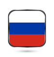 Russia flag button vector image vector image