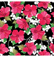 Seamless floral pattern hand-drawing vector image vector image