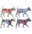 Trotting dog mosaics vector image