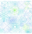 Sacred geometry symbols and elements wallpaper vector image