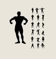 Bodybuilding Silhouettes vector image