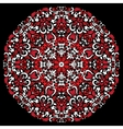 circular pattern red white color vector image