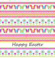 Cute easter seamless background vector image