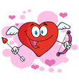 Happy Heart Cupid With A Bow And Arrow vector image