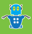 isolated robot toy vector image