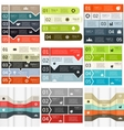 lines infographics set vector image
