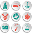 Set of New Year and Christmas icons Flat design vector image