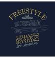 Skateboarding t-shirt graphic design - vector image