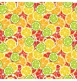 Striped seamless pattern with lime orange and vector image