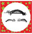 sydney harbour bridge australia hand drawn doodle vector image