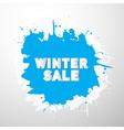 Winter Sale Title on Blue Splash Blot vector image