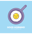 Cute fried omelet vector image vector image