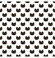 seamless pattern with black scary halloween cat vector image