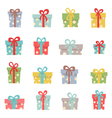 Set of cute christmas gifts vector image