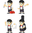 Nerd Boy Customizable Mascot 7 vector image