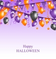 Halloween Background with Hanging Bunting vector image