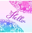 Hello Border Blue and Purple White 2 vector image