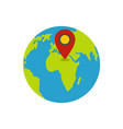 earth navigation icon flat style vector image