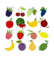 Fruit Icons Set vector image