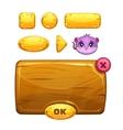Funny cartoon cheese user interface vector image