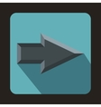Gray arrow icon flat style vector image