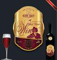 luxury golden wine label vector image