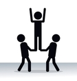 person teamwork cooperation innovation pictogram vector image