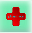 pharmacy logo medicine red cross abstract design vector image