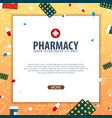 pharmacy medical banner health care vector image