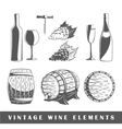 Set of elements of the wine vector image