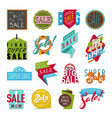 shop sale flat stickers banner vector image