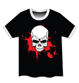 Skull t shirt design vector image