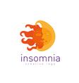 Creative logo on insomnia vector image