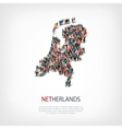 people map country Netherlands vector image