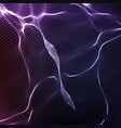abstract violet wave mesh background vector image