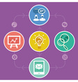 internet marketing strategy - icons and infographi vector image