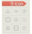 washing signs icons set vector image