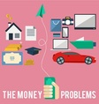 Money Problems vector image