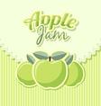 Retro apple jam label vector image