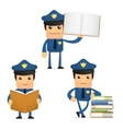 policeman with books vector image