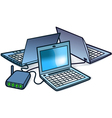 computer networking vector image vector image