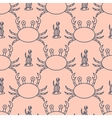 Seamless pattern with crabs and seaweed vector image