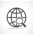 Global search sign icon vector image