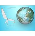 green energy wind turbines vector image