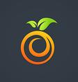 nutrition fruit fresh swirl logo vector image