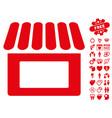 shop icon with love bonus vector image