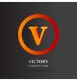 V Letter logo abstract design vector image